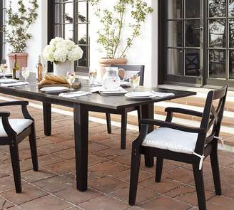 Pottery Barn Hampstead Painted Extending Dining Table, Black