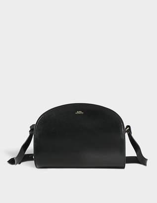 A.P.C. Demi Lune Bag in Black Calfskin