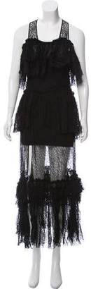 Sonia Rykiel Lace Off-the-Shoulder Maxi Dress