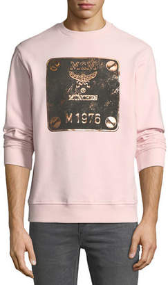 MCM Men's Logo Plate Graphic Sweatshirt