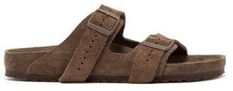Rick Owens X Birkenstock Arizona Suede Sandals - Mens - Grey