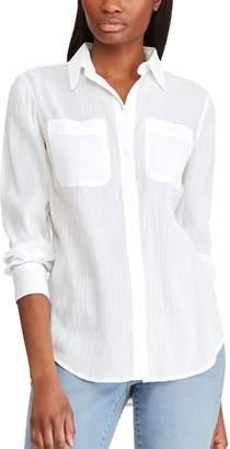 Chaps Women's Linen-Blend Shirt