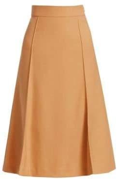 Chloé Stretch Wool Knee-Length Skirt