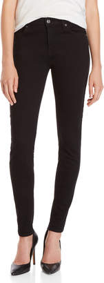 7 For All Mankind Black Super Skinny Jeans
