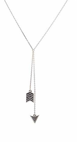 House Of Harlow Pave Arrow Necklace in Silver