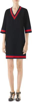 Gucci Stripe Trim Shift Dress