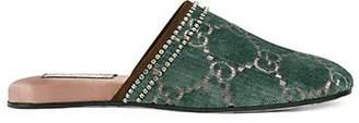 Gucci Women's Velvet Slippers - Turquoise