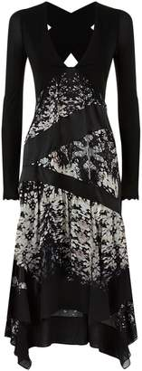Roberto Cavalli Burnt Shells Cut-Out Dress