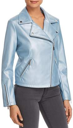 Bagatelle Metallic Faux-Leather Moto Jacket