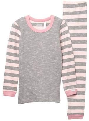 Coccoli Striped Sleeve Pajama Set (Toddler, Little Kid, & Big Kid)