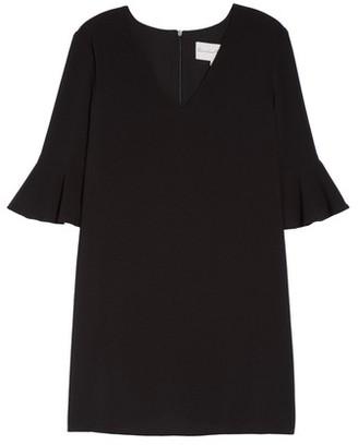 Charles Henry Women's Ruffle Sleeve Shift Dress