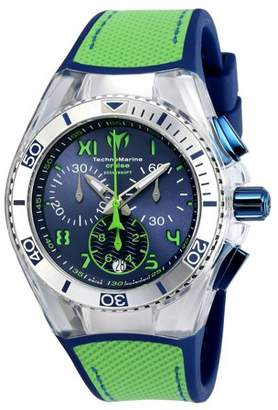 Technomarine Unisex TM-115019 Cruise California Quartz Chronograph Blue, Green Dial Watch