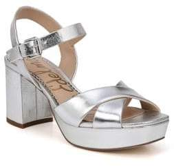 95067b21f Sam Edelman Silver Leather Upper Women s Sandals - ShopStyle