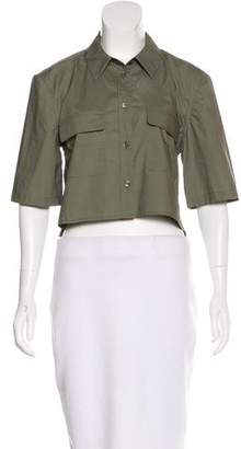Equipment Cropped Button-Up Top w/ Tags