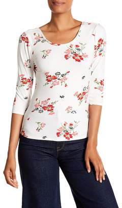 Rebecca Taylor 3/4 Length Sleeve Marguerite Jersey Tee