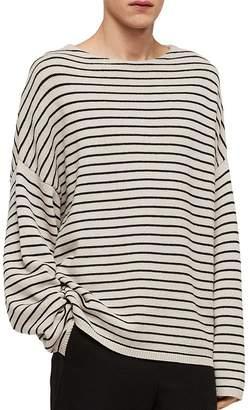 AllSaints Marty Striped Crewneck Sweater