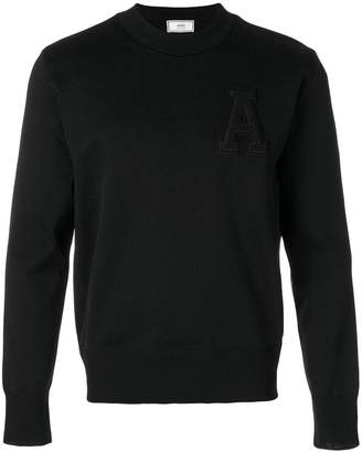 Ami Alexandre Mattiussi crewneck A patch sweater