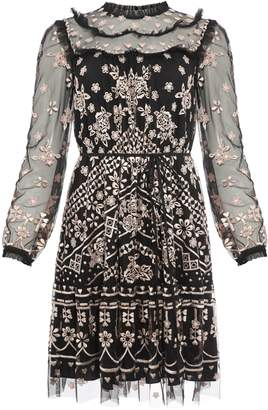 Needle & Thread Esme Embroidered A-Line Day Dress
