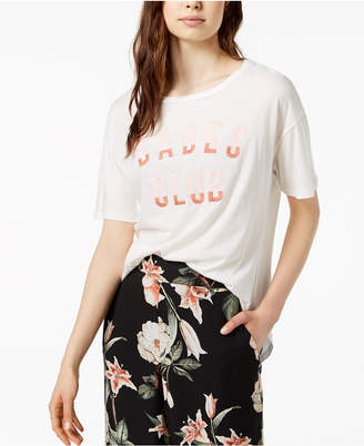 Embroidered Graphic-Print T-Shirt