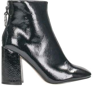 Steve Madden Posed Patent Black Leather Bootie