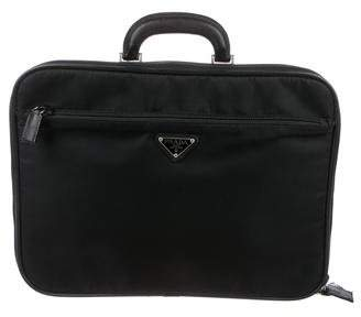 Prada Saffiano-Trimmed Laptop Bag