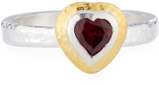 Gurhan Romance Rhodolite Garnet Heart Ring, Size 7