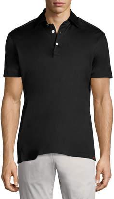 Kiton Solid Cotton Polo Shirt