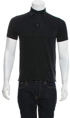 John Varvatos Silk-Blend Short Sleeve Polo Shirt