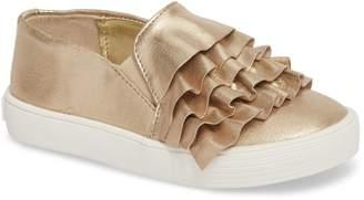 Kenneth Cole New York Shimmery Kam Ruffle Slip-On Sneaker