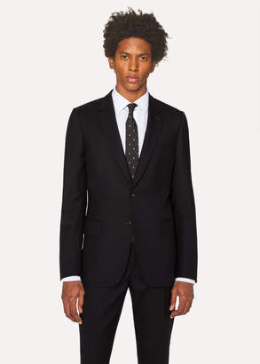 Paul Smith Men's Tailored-Fit Black Wool 'A Suit To Travel In' Blazer