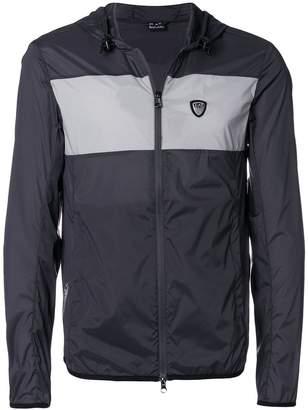 Emporio Armani Ea7 colour-block zipped jacket