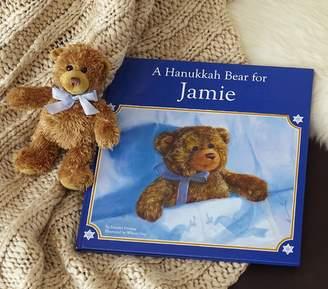 Pottery Barn Kids Girl A Hanukkah Bear Personalized Book & Plush Set