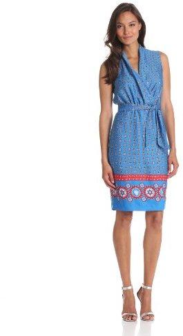 Anne Klein Women's Foulard Print Wrap Dress