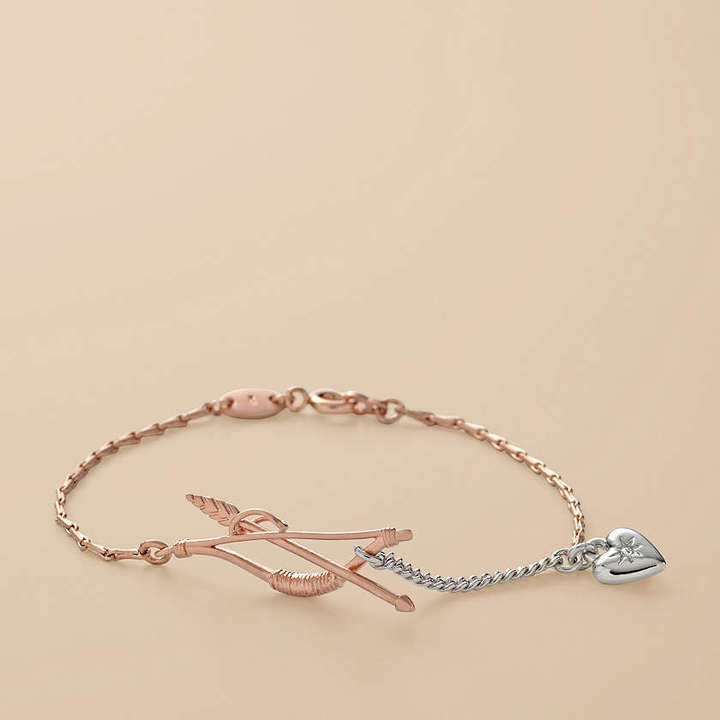 Rose Bow and Arrow Bracelet
