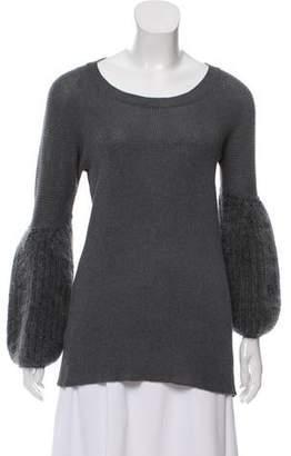 Miu Miu Scoop Neck Lightweight Sweater