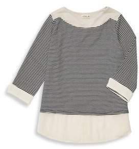 Monteau Girl's Striped Stretch Top