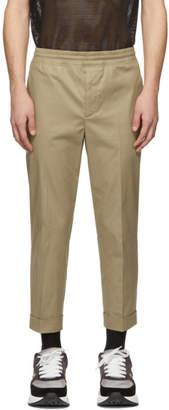 Neil Barrett Tan Elasticized Waist Trousers