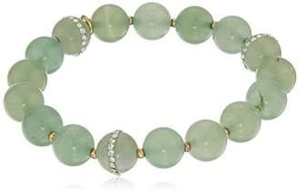 Anne Klein Gold-Tone Beaded Stretch Bracelet