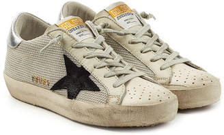 Golden Goose Super Star Sneakers with Leather