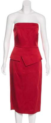 Roland Mouret Strapless Satin Dress w/ Tags