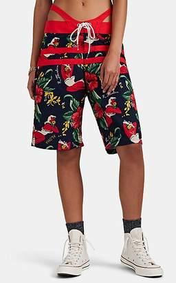 R 13 Women's Cutout Hawaiian-Print Board Shorts