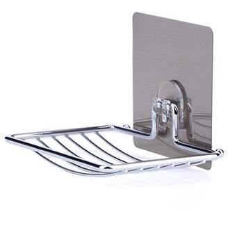 LAUNGDA Soap Dish Adhesive Soap Holder Chrome Soap Dish Holder for Bathroom/Kitchen /Tile/Shower Wall Mounted