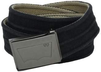 Levi's Men's Washed Cotton Reversible Web Belt