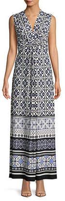 Eliza J Printed Sleeveless Maxi Dress