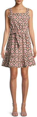 Kate Spade Floral Mosaic Poplin Dress