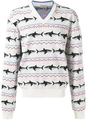 Lanvin shark intarsia knit jumper