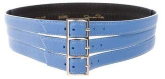 Oscar de la Renta Leather Waist Belt