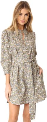 La Vie Rebecca Taylor Long Sleeve Marigold Pop Dress $275 thestylecure.com