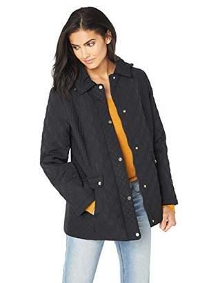 Jones New York Women's Quilted Jacket with Hood