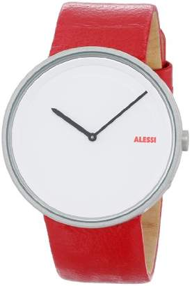 "Alessi Men's AL13002 ""Out Time"" Stainless Steel Automatic Watch with Leather Band"